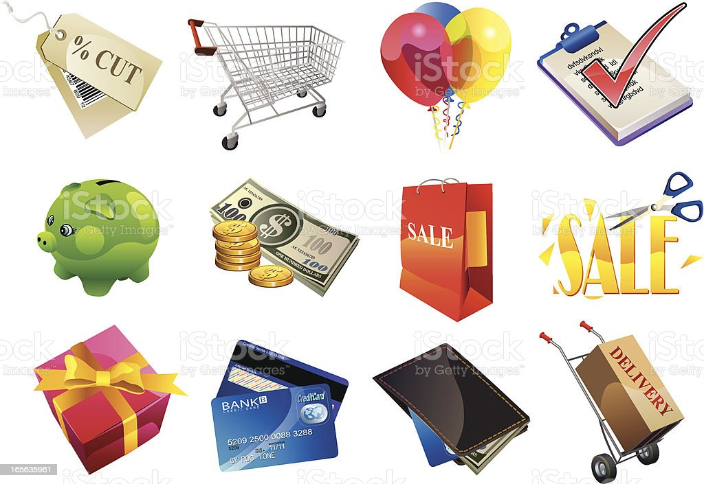 Shopping icon royalty-free shopping icon stock vector art & more images of arts culture and entertainment