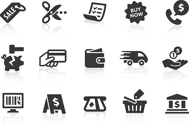 ショッピングのアイコン 2 - 財布点のイラスト素材/クリップアート素材/マンガ素材/アイコン素材