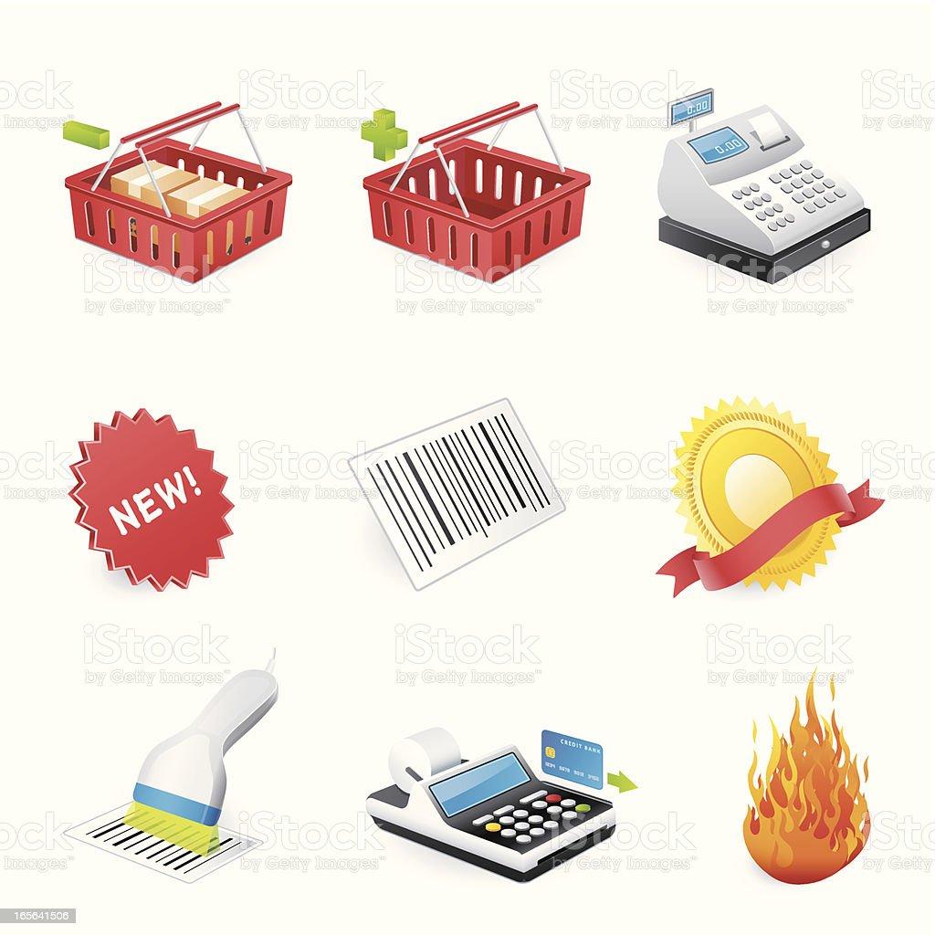 Shopping icons - 3D series vector art illustration