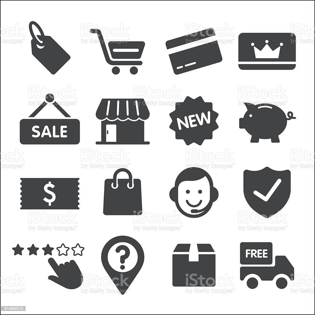 Shopping icônes-Série Acme - Illustration vectorielle
