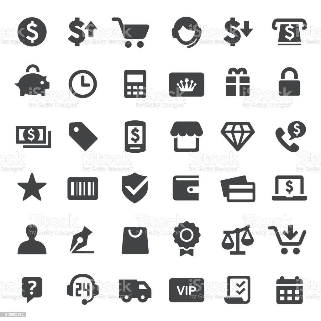 Shopping Icons - Big Series vector art illustration