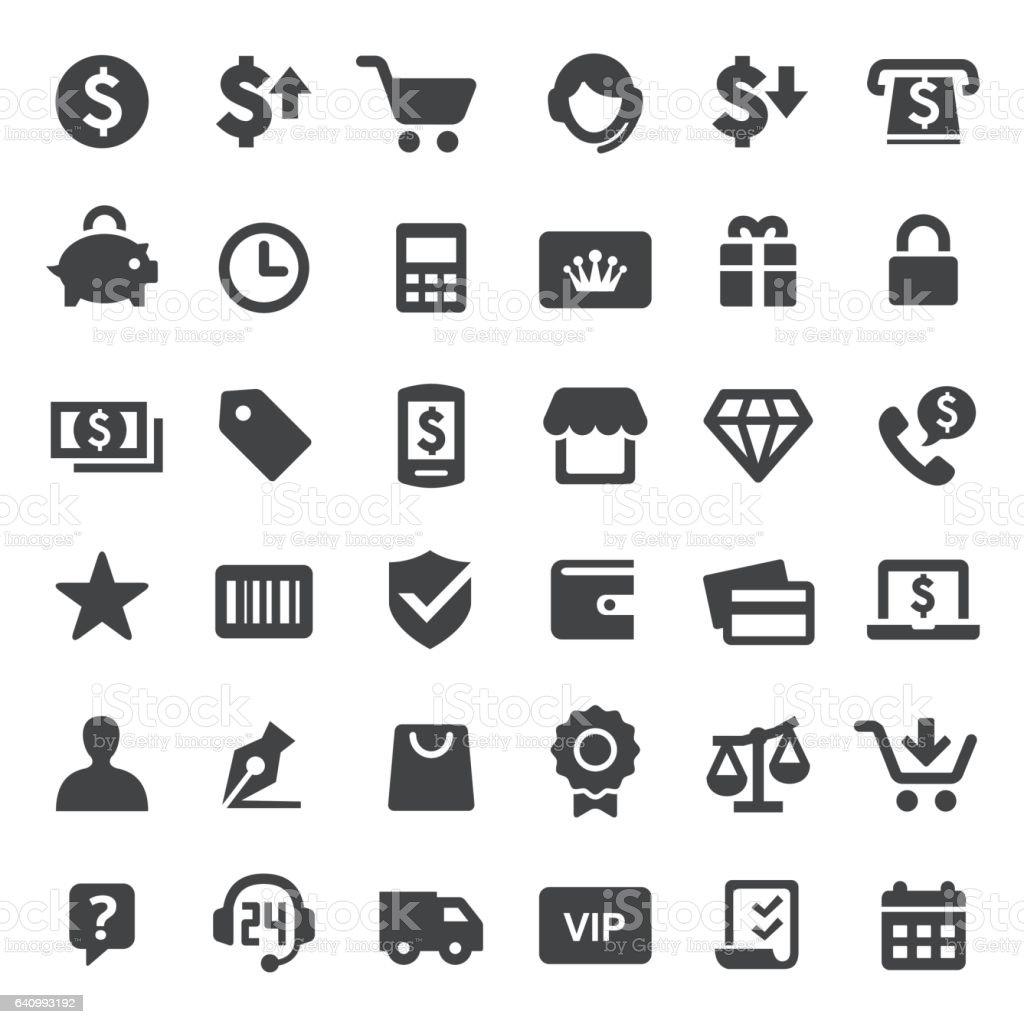 Shopping Icons - série Big - Illustration vectorielle