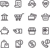 Shopping Icons - Line Series