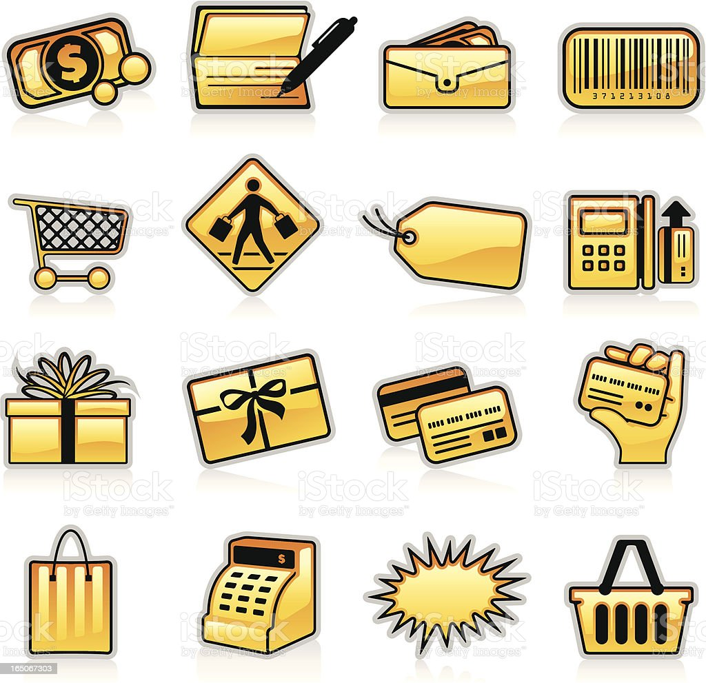Shopping Icons - Orange royalty-free stock vector art