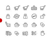 Shopping Icons // Red Point Series