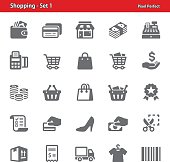 Professional, pixel perfect icons depicting various shopping concepts