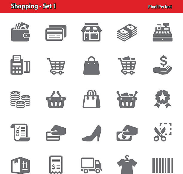 Shopping Icons - Set 1 vector art illustration