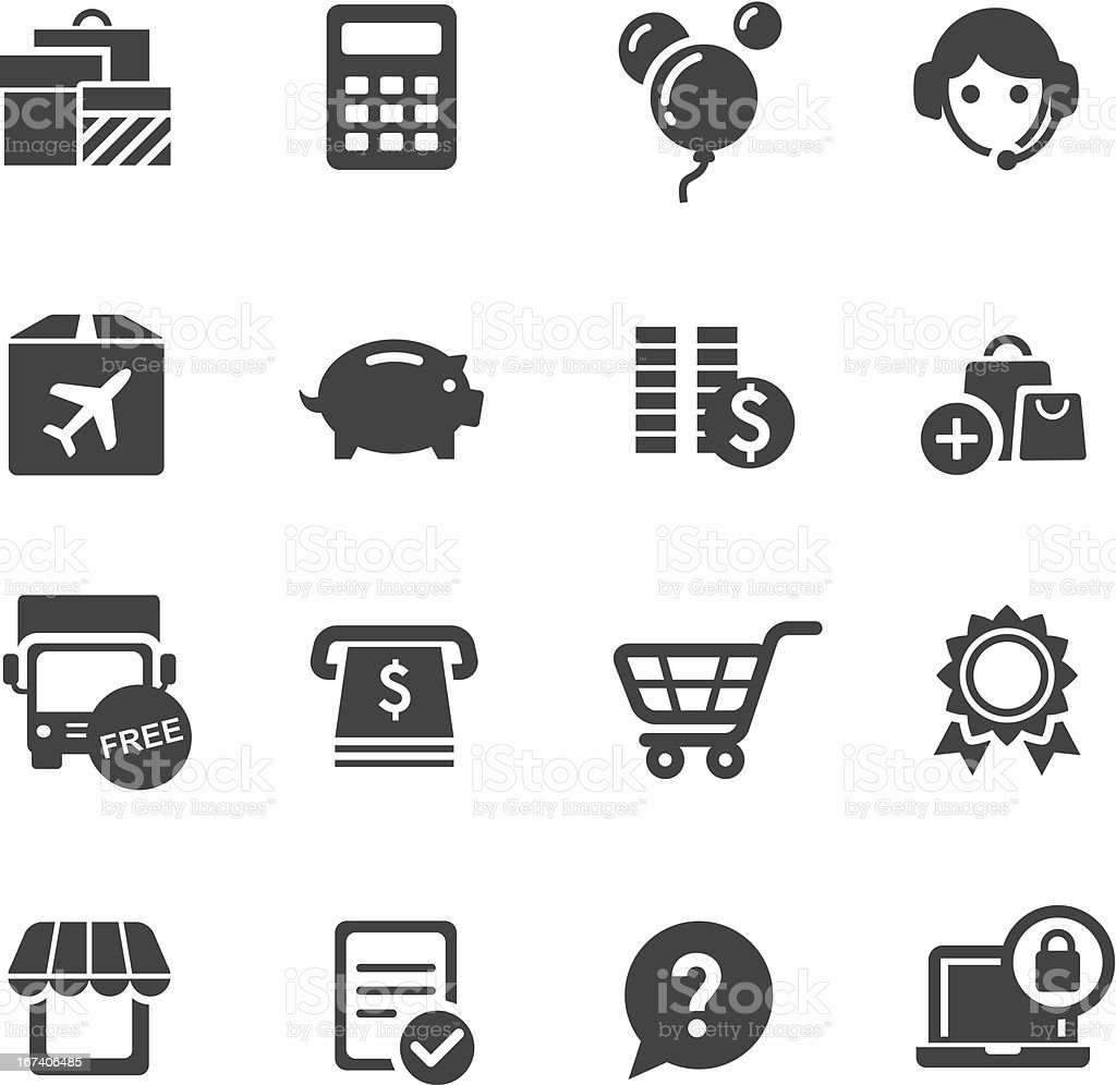 Shopping Icons Set 3-Acme Series vector art illustration