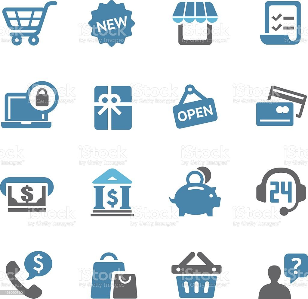 Shopping Icons Set - Conc Series vector art illustration