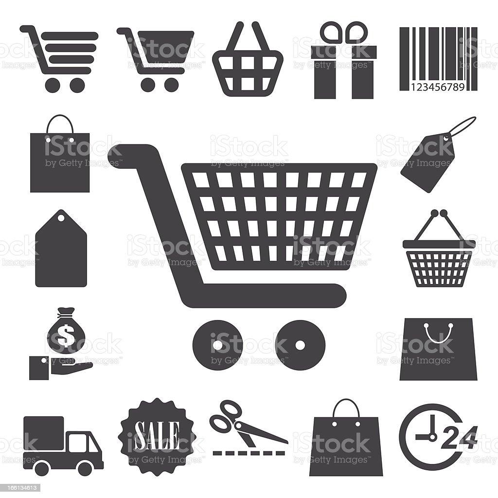 Shopping icons set. royalty-free stock vector art
