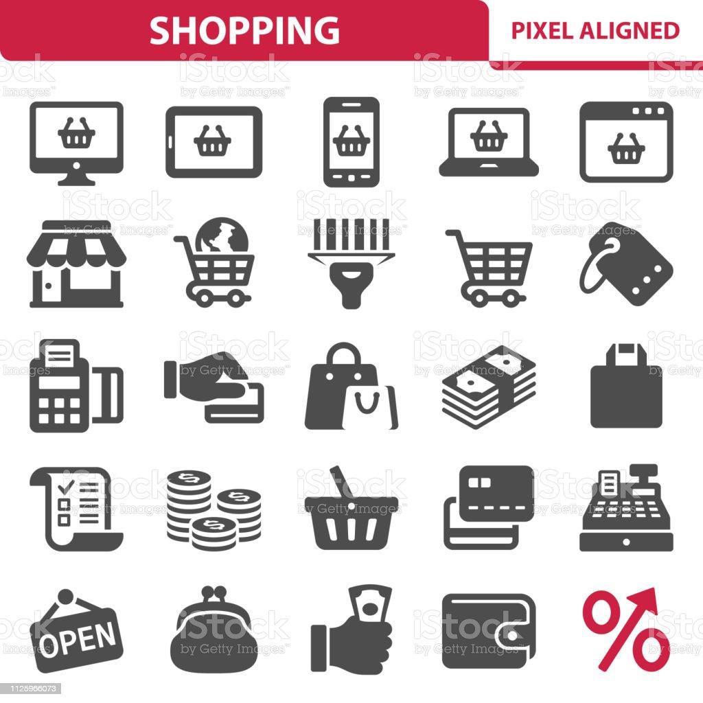 Shopping Icons - Royalty-free Aberto arte vetorial