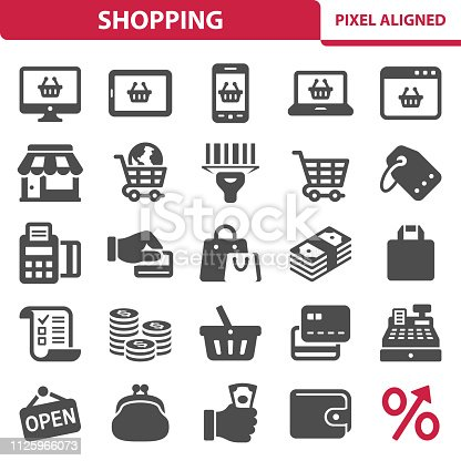 istock Shopping Icons 1125966073