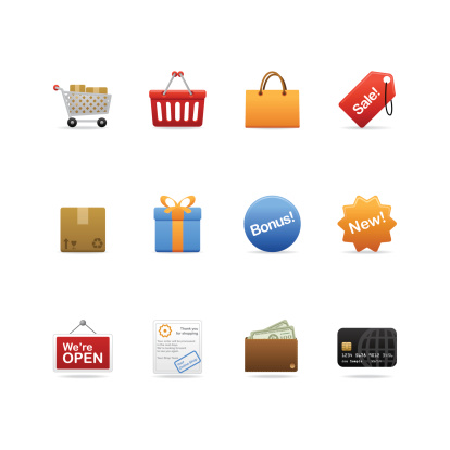 Shopping Icons Stock Illustration - Download Image Now