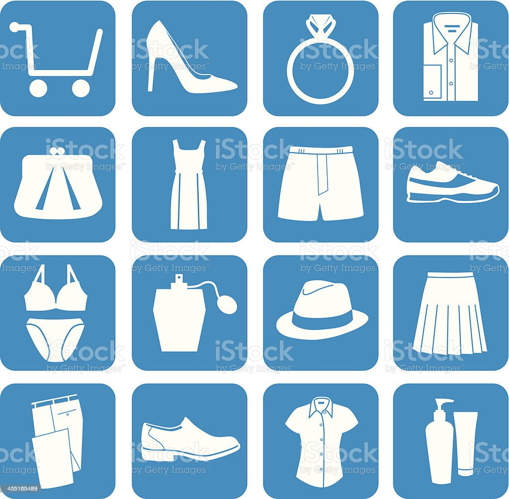 Iconos de compras - ilustración de arte vectorial