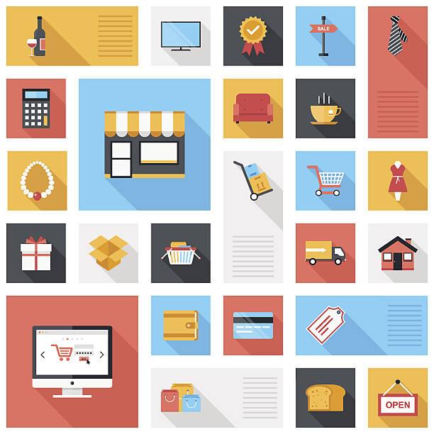ショッピングのアイコン - 家庭料理点のイラスト素材/クリップアート素材/マンガ素材/アイコン素材
