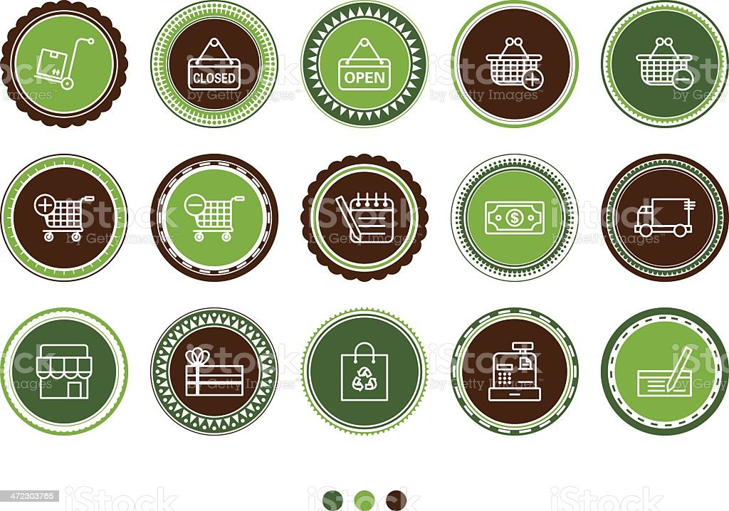 shopping icons royalty-free shopping icons stock vector art & more images of art product