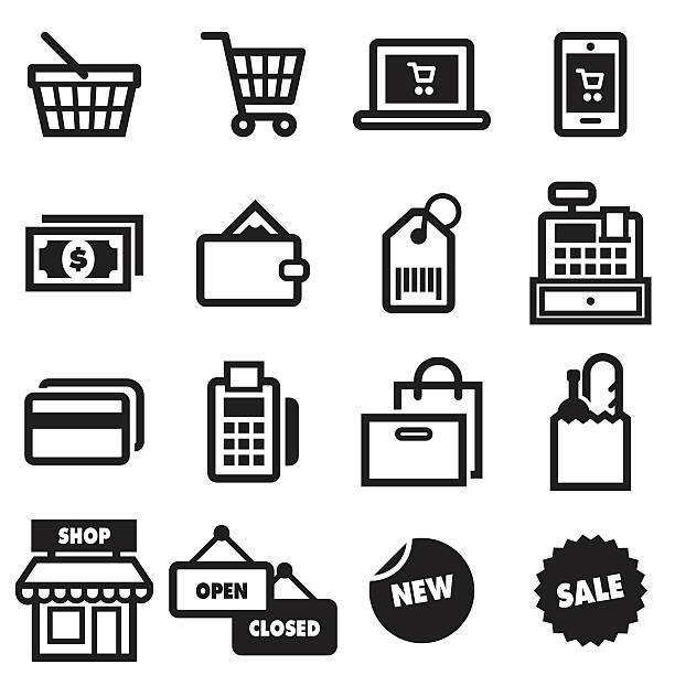 Shopping Icons Shopping Icons shopping basket stock illustrations