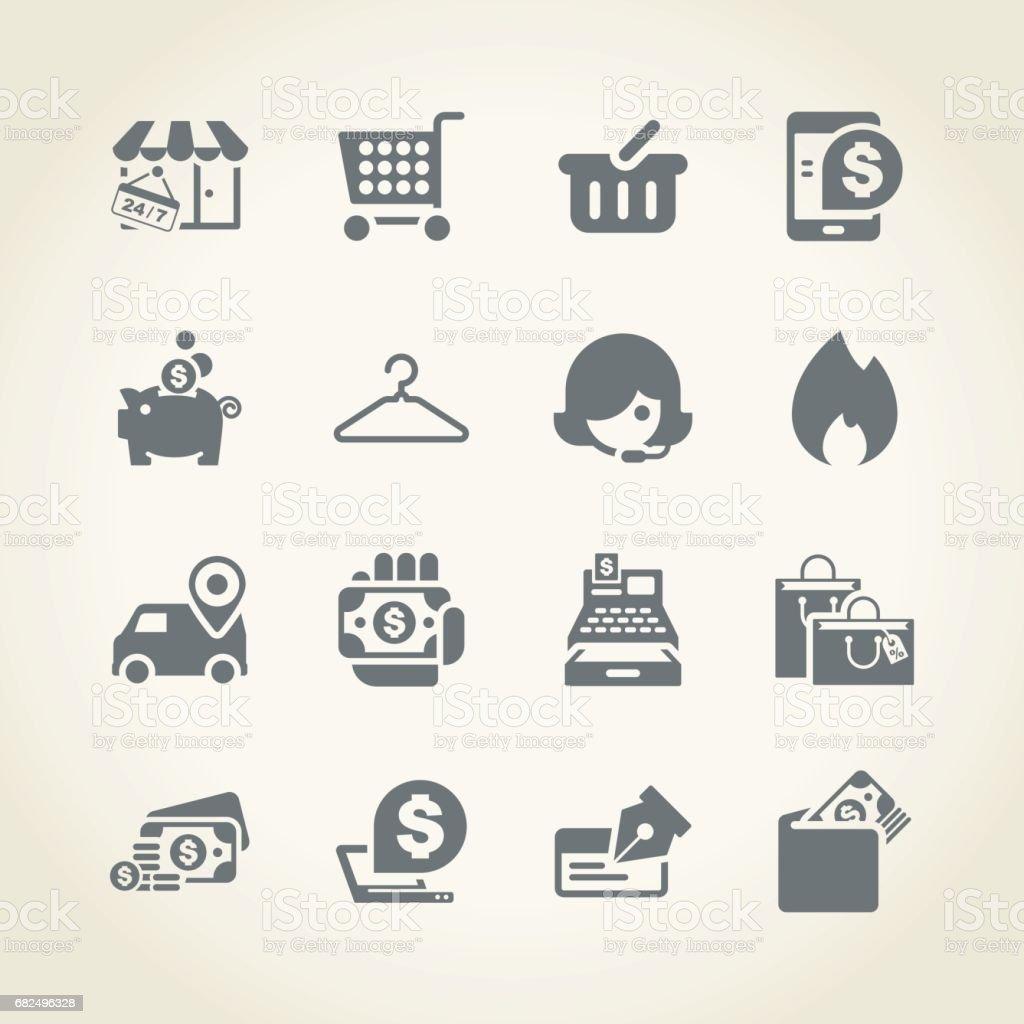 Alışveriş simgeleri royalty-free alışveriş simgeleri stok vektör sanatı & 24 hrs - kısa İbare'nin daha fazla görseli