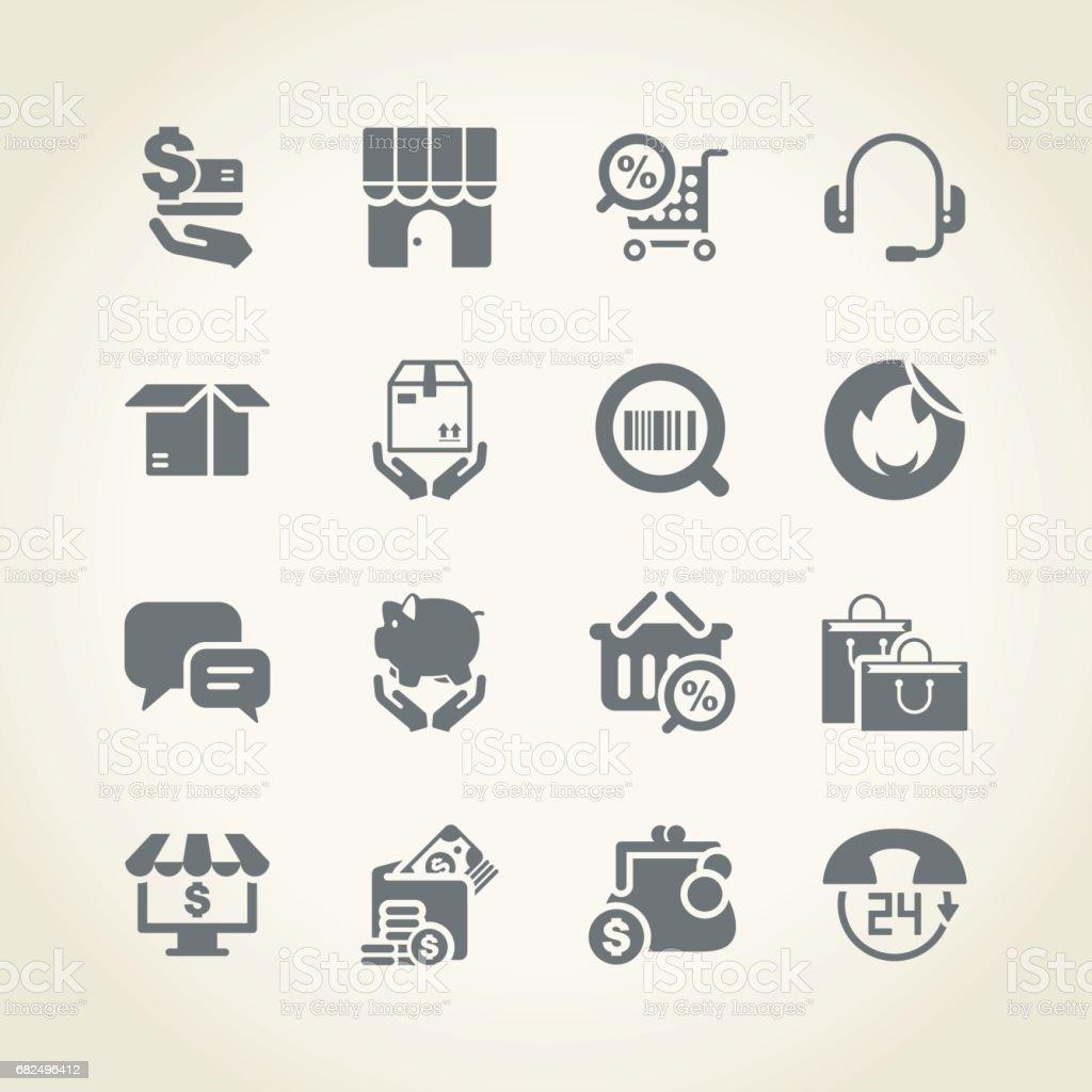 Shopping icons shopping icons — стоковая векторная графика и другие изображения на тему Банк Стоковая фотография