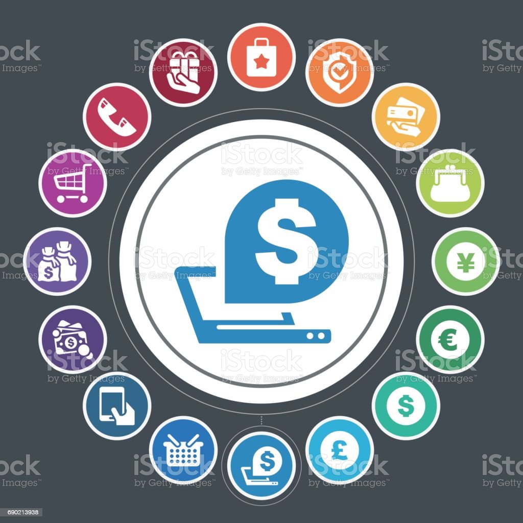 Shopping Icons Stock Vector Art More Images Of Bluetooth 690213938