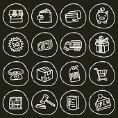 Vector File of Doodle Shopping Icon Set