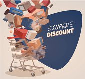 Shopping illustrated background