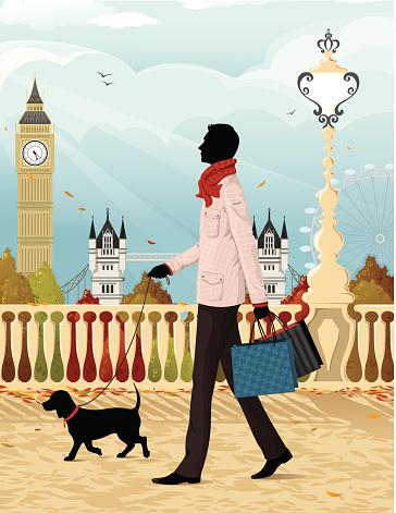 Shopping in London (autumn)