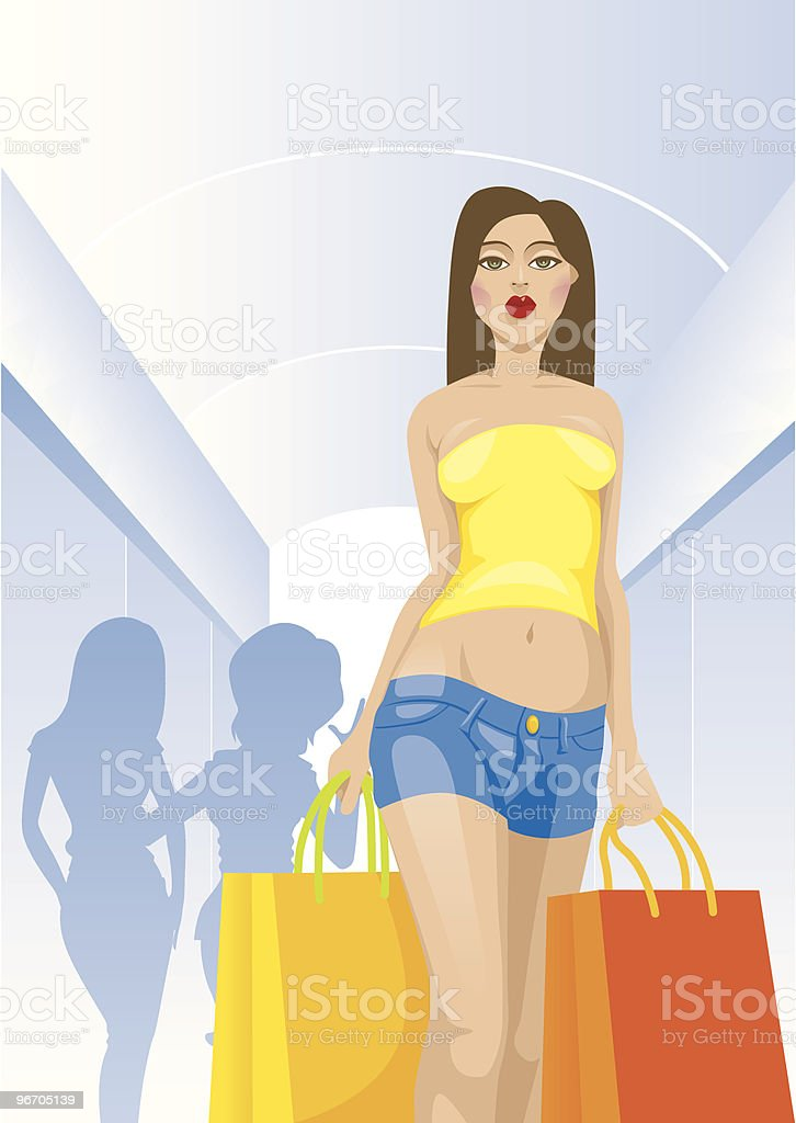 Shopping in Mall royalty-free shopping in mall stock vector art & more images of adult