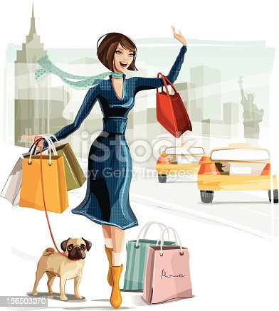 istock Shopping in New York 156503070