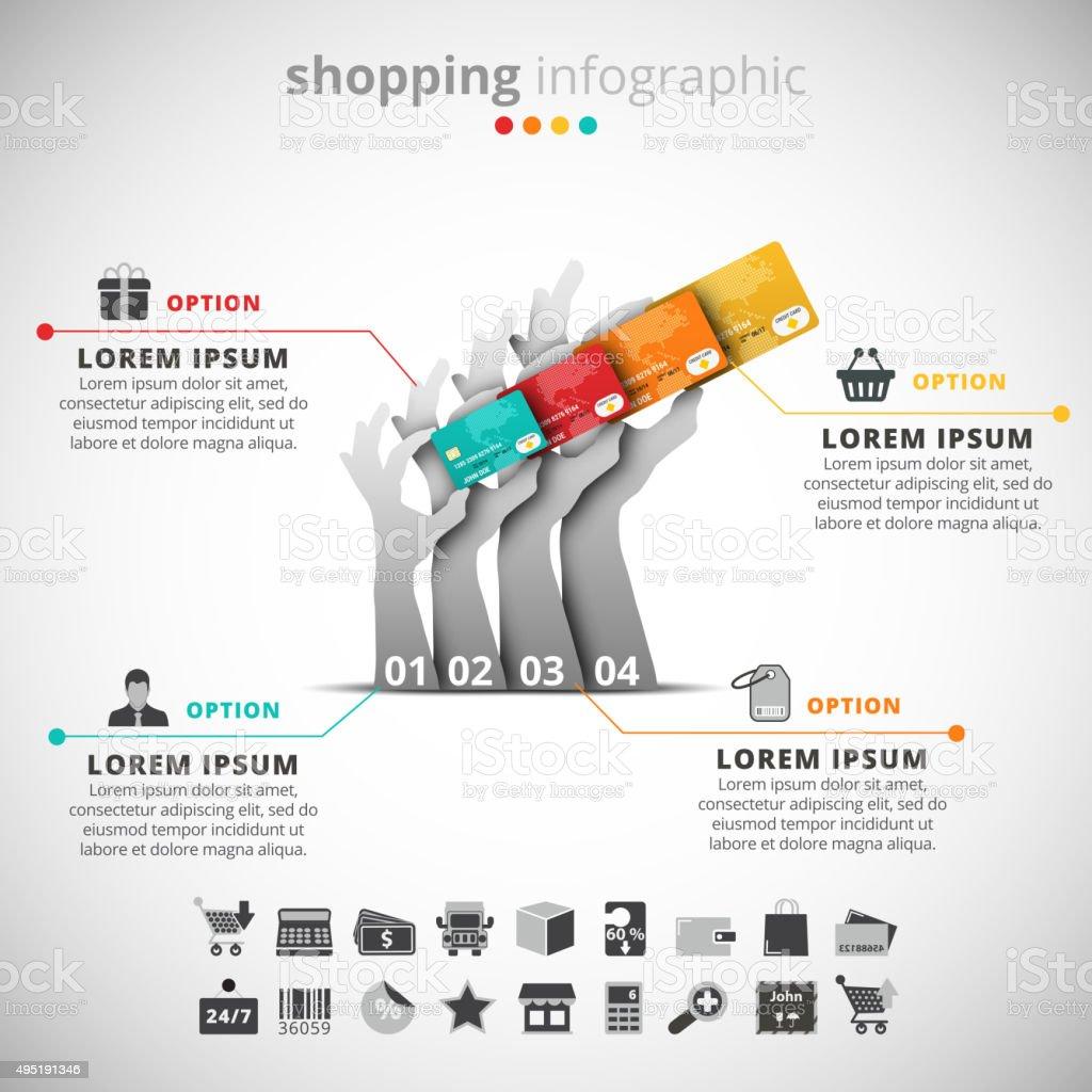 Shopping-Infografik – Vektorgrafik