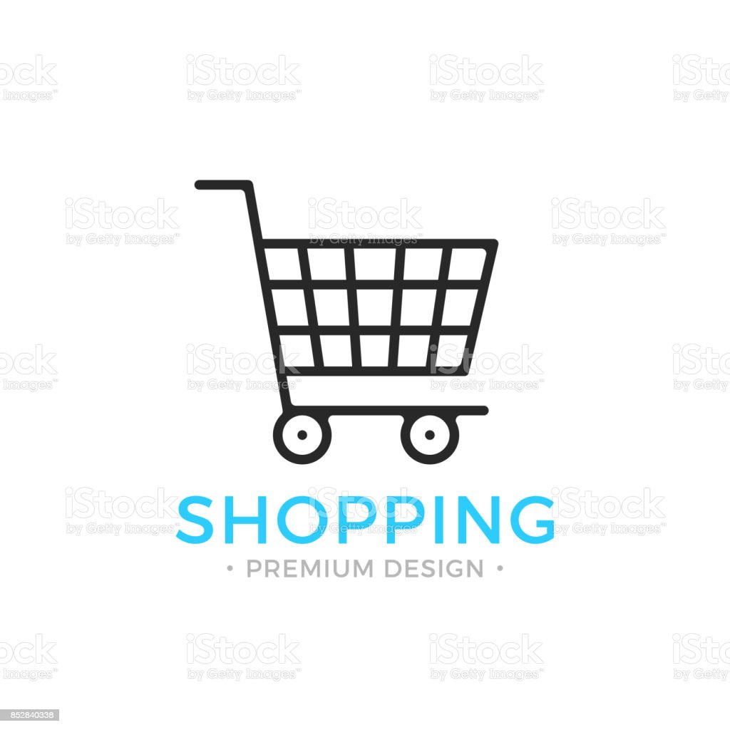 Shopping line icon. Ecommerce, e-commerce concepts. Black vector shopping cart icon vector art illustration