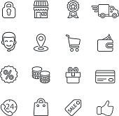 Shopping Line icons | EPS10