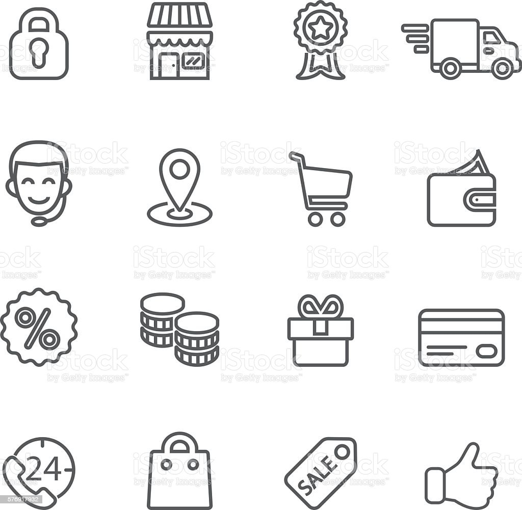 Shopping Line icons | EPS10 vector art illustration