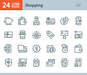 Shopping - line vector icons