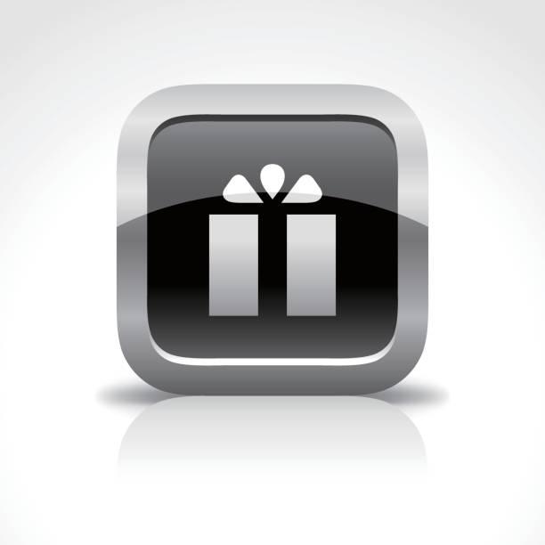 ショッピング モール、ギフトの光沢のあるボタンのアイコン - 勤労感謝の日点のイラスト素材/クリップアート素材/マンガ素材/アイコン素材