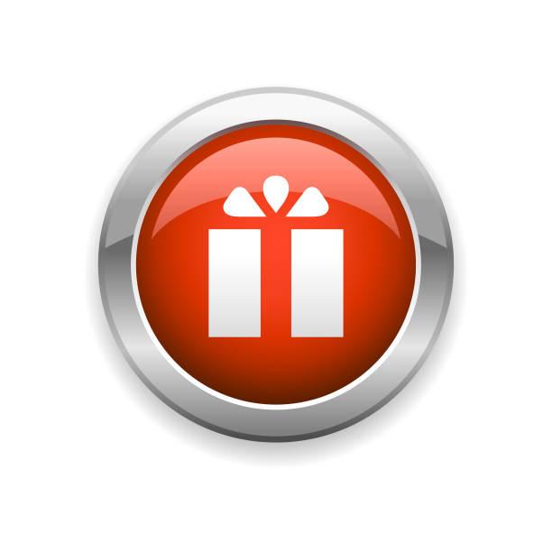 ショッピングモールとギフト光沢アイコン - 勤労感謝の日点のイラスト素材/クリップアート素材/マンガ素材/アイコン素材