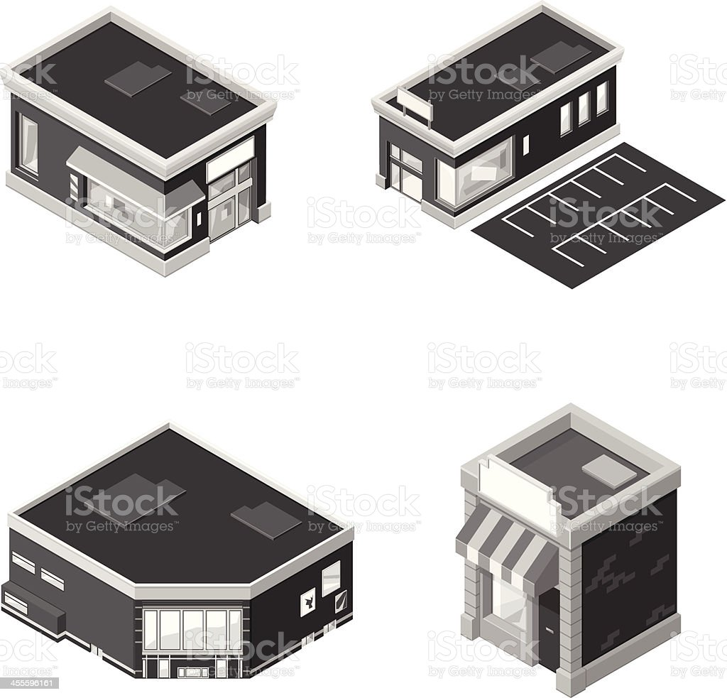 Shopping mall and retail stores royalty-free stock vector art