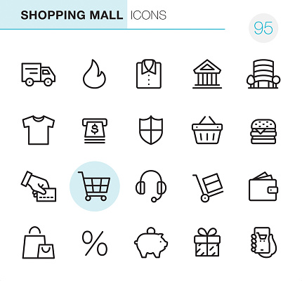 Shopping Mall - Pixel Perfect icons