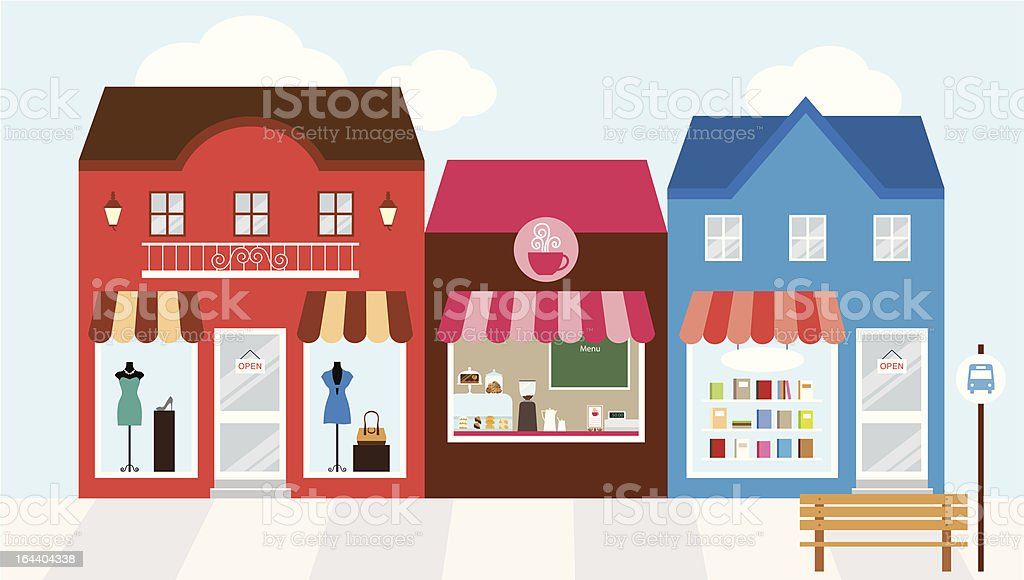Shopping Mall vector art illustration