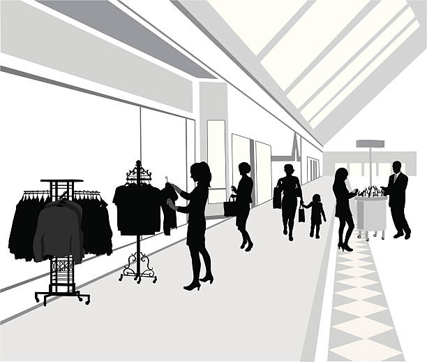 shoppingmall - modeboutique stock-grafiken, -clipart, -cartoons und -symbole