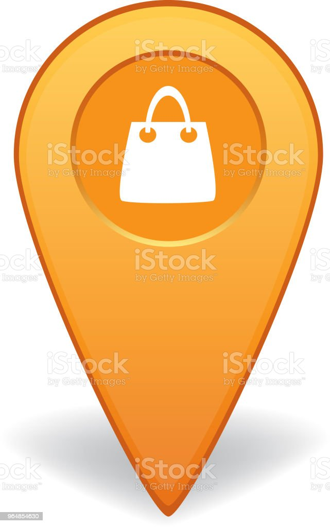 Shopping map pointer for GPS navigation royalty-free shopping map pointer for gps navigation stock vector art & more images of advice
