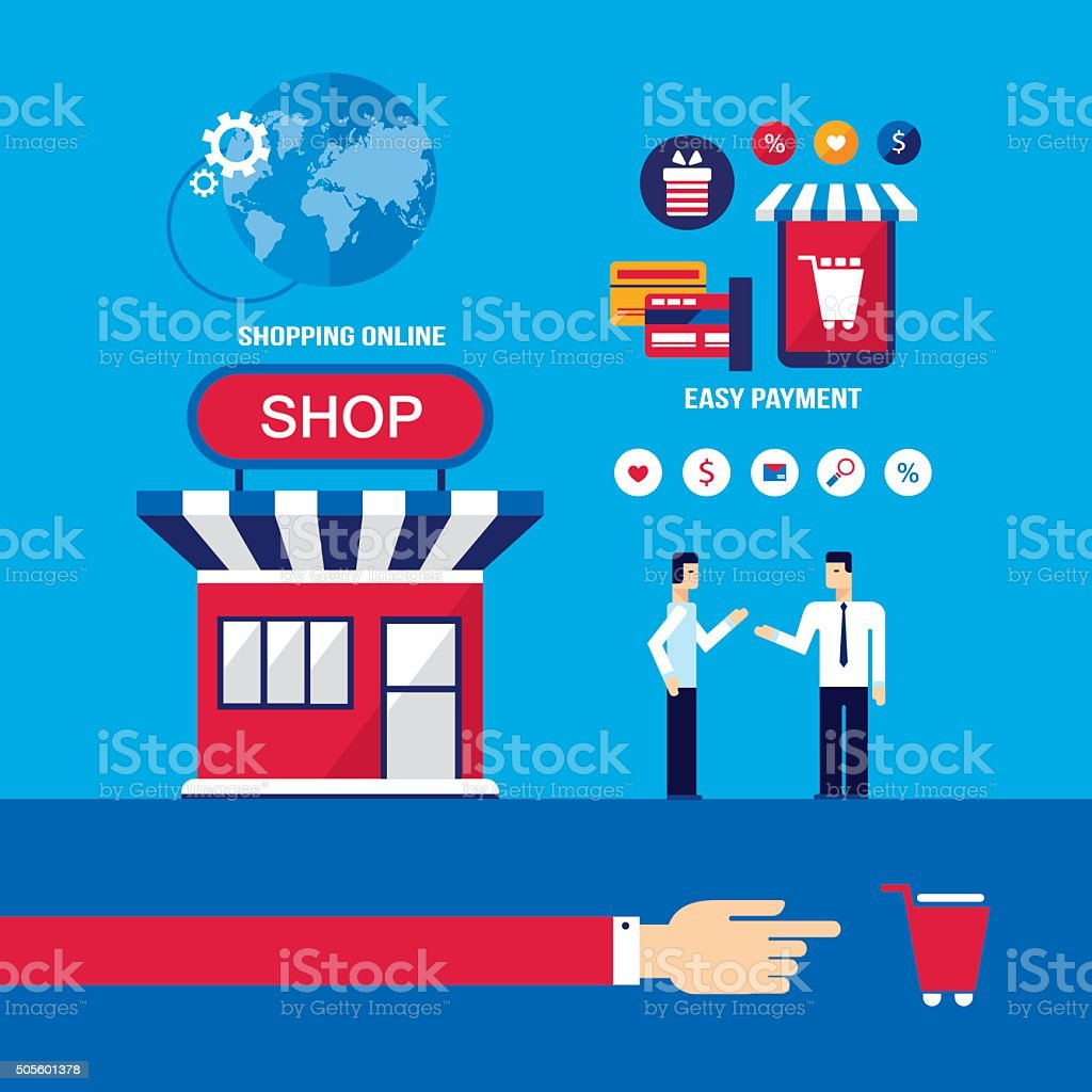 Shopping online mobile payment ecommerce business stock for Shopping online mobili