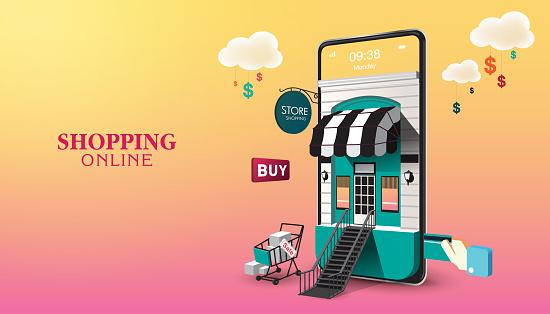 Shopping Online on Website or Mobile Application