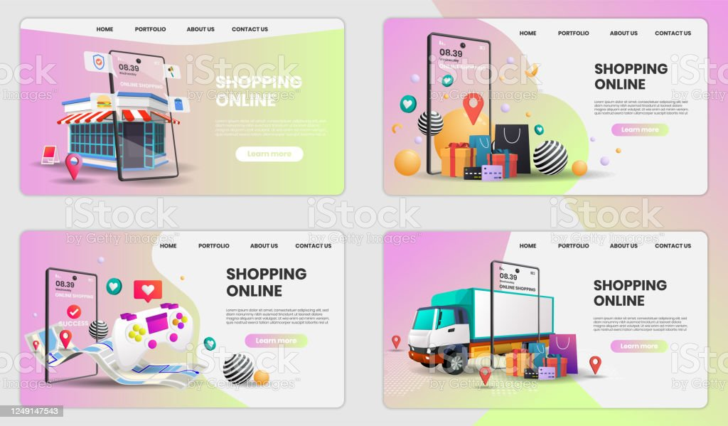 Shopping Online With Phone And Retail Vector Online Store Smartphone Concept Suitable For Banner Application Stock Illustration Download Image Now Istock