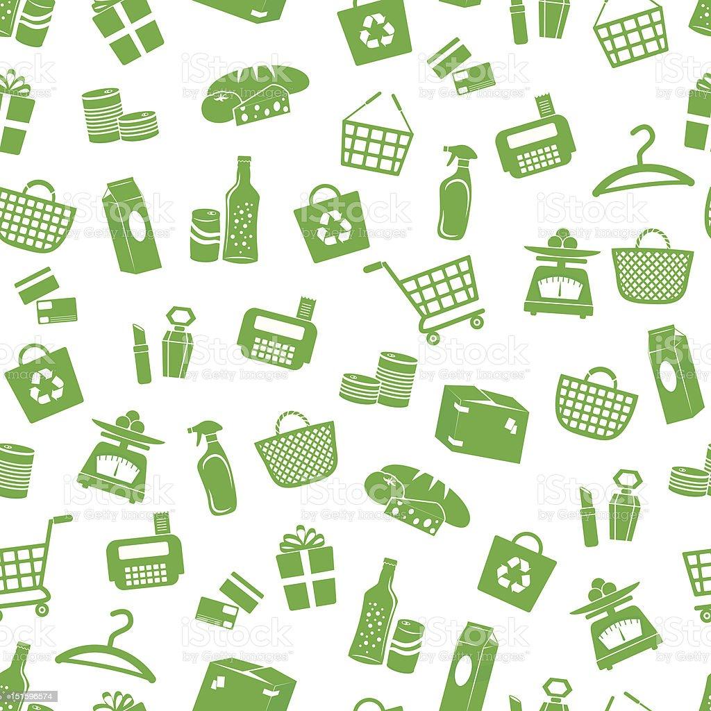 shopping pattern vector art illustration
