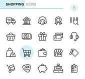20 Outline Style - Black line - Pixel Perfect icons / Set #8