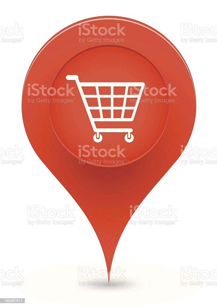 Shopping Pointer royalty-free stock vector art