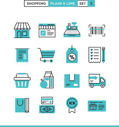 Einkaufsmöglichkeiten Geschäften Versand Gutschein Ermäßigungen Und Vieles Mehr Stock Vektor Art und mehr Bilder von Ausverkauf