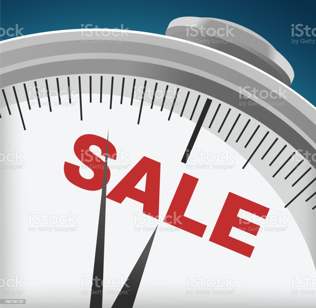 SALE TIME shopping retails offers buying selling vector art illustration