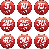 istock Shopping Sale Discount Badge in Red 481580802